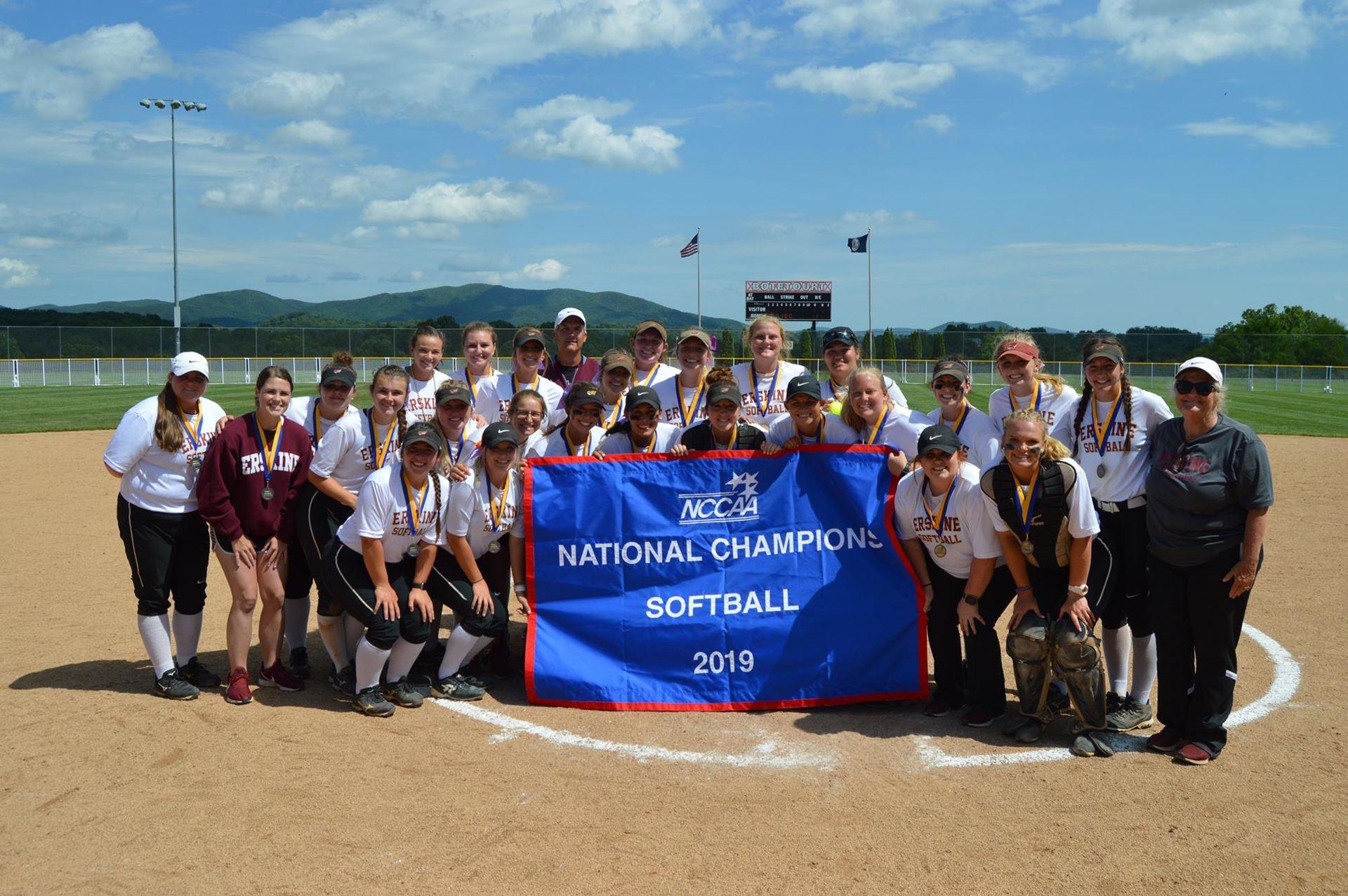 Erskine College Softball Wins NCCAA